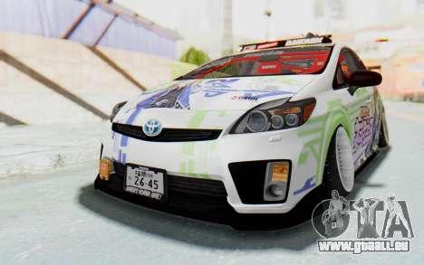 Toyota Prius Hybrid 2011 Hellaflush IF Itasha für GTA San Andreas rechten Ansicht