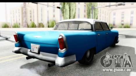 Cabbie Oceanic pour GTA San Andreas sur la vue arrière gauche