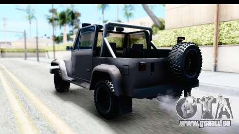 Mesa MAXimum 4x4 pour GTA San Andreas sur la vue arrière gauche