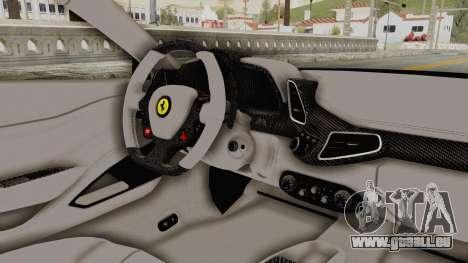 Ferrari 458 VPM Crew für GTA San Andreas Innenansicht