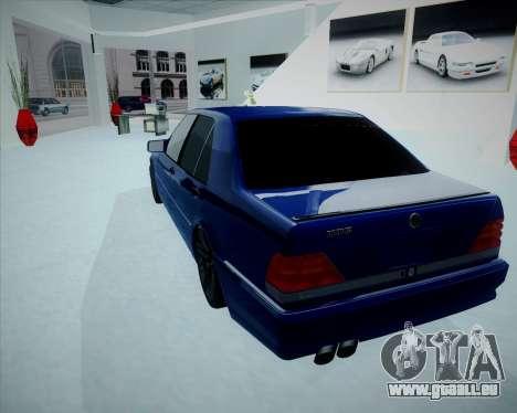 Mercedes Benz W140 Brabus pour GTA San Andreas laissé vue