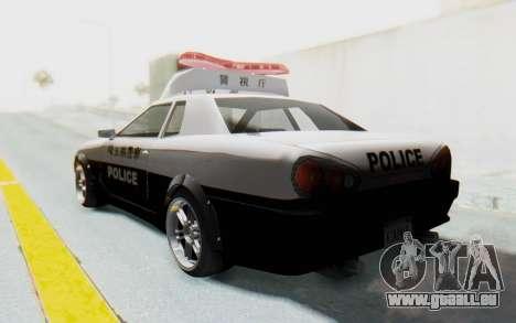 Elegy Japanese Police für GTA San Andreas linke Ansicht