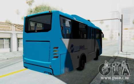 Hino Evo-C Transjakarta Feeder Bus pour GTA San Andreas sur la vue arrière gauche