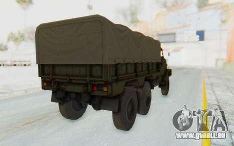 MGSV Phantom Pain BOAR 53CT Truck Roof pour GTA San Andreas vue de droite