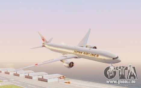 Boeing 777-300ER Japan Airlines v2 pour GTA San Andreas sur la vue arrière gauche
