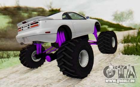Nissan 300ZX Monster Truck pour GTA San Andreas sur la vue arrière gauche