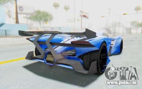 GTA 5 Grotti Prototipo v1 für GTA San Andreas zurück linke Ansicht