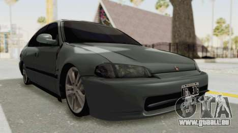 Honda Civic SI Sedan 1992 für GTA San Andreas rechten Ansicht