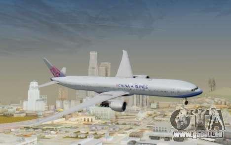 Boeing 777-300ER China Airlines für GTA San Andreas zurück linke Ansicht