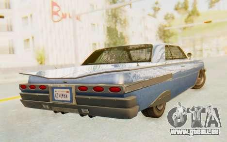 GTA 5 Declasse Voodoo Alternative v1 pour GTA San Andreas laissé vue