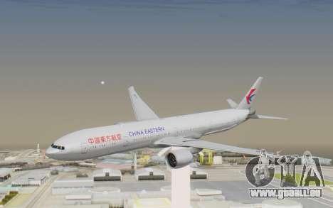 Boeing 777-300ER China Eastern Airlines für GTA San Andreas zurück linke Ansicht