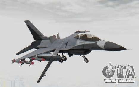F-16 with Russian Missile pour GTA San Andreas sur la vue arrière gauche