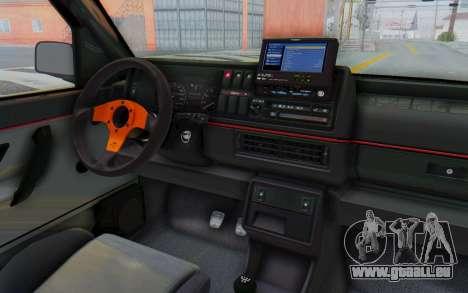 Volkswagen Golf 2 GTI 1.6V für GTA San Andreas Innenansicht