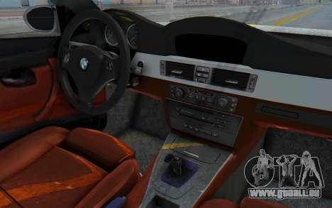 BMW M3 E92 Liberty Walk LB Performance pour GTA San Andreas vue intérieure