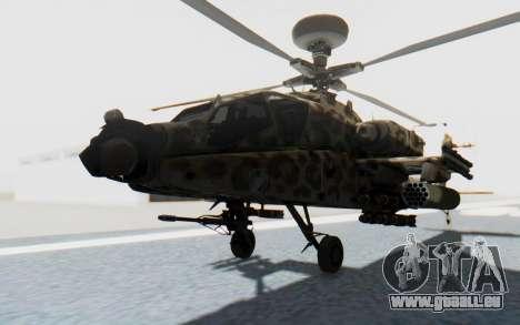 AH-64 Apache Leopard pour GTA San Andreas vue de droite