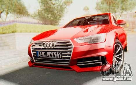 Audi A4 2017 IVF für GTA San Andreas