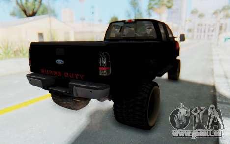 Ford Super Duty Off-Road pour GTA San Andreas sur la vue arrière gauche