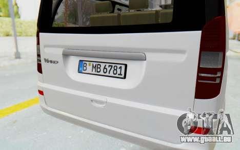 Mercedes-Benz Viano W639 2010 Long Version pour GTA San Andreas vue de côté