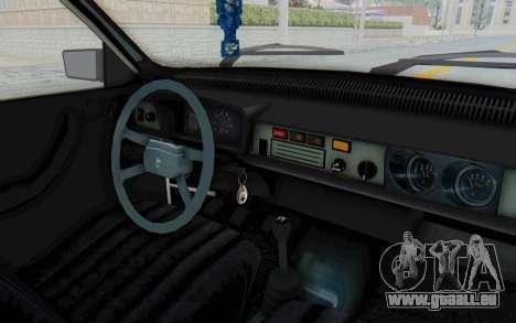 Dacia 1310 Break 1988 pour GTA San Andreas vue intérieure
