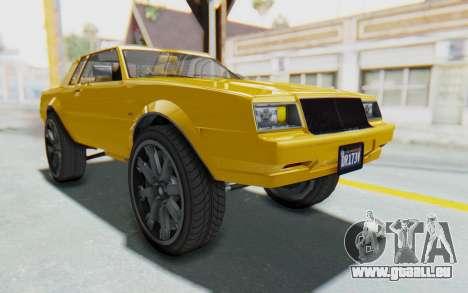 GTA 5 Willard Faction Custom Donk v1 IVF pour GTA San Andreas vue de droite