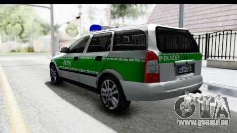 Opel Astra G Variant Polizei Bayern pour GTA San Andreas laissé vue