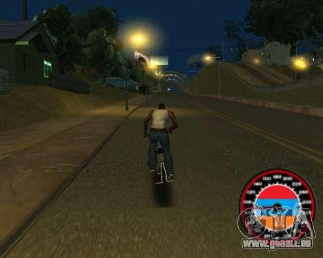 Der Tacho im Stil der Armenischen Flagge für GTA San Andreas achten Screenshot