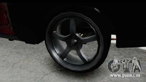 Dodge Charger Daytona F&F Bild für GTA San Andreas Rückansicht