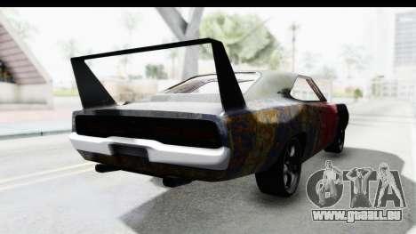 Dodge Charger Daytona F&F Bild pour GTA San Andreas sur la vue arrière gauche