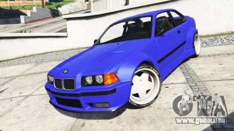 GTA 5 BMW M3 (E36) Street Custom [blue dials] v1.1 volant