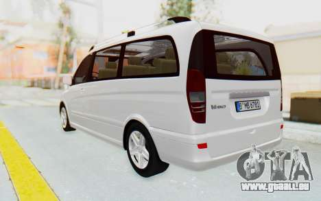 Mercedes-Benz Viano W639 2010 Long Version pour GTA San Andreas laissé vue