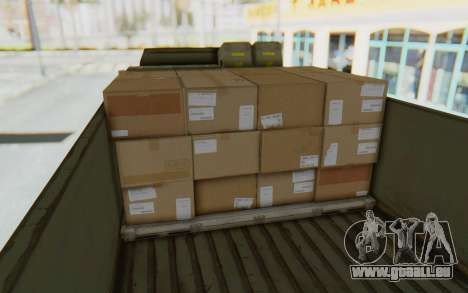 MGSV Phantom Pain BOAR 53CT Truck für GTA San Andreas Rückansicht