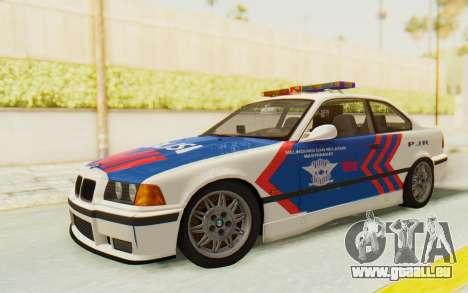 BMW M3 E36 Police Indonesia pour GTA San Andreas