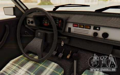 Dacia 1310 TLX pour GTA San Andreas vue intérieure