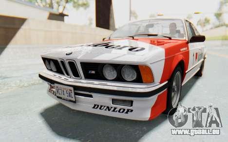 BMW M635 CSi (E24) 1984 IVF PJ1 pour GTA San Andreas moteur
