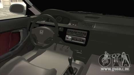 Honda Civic SI Sedan 1992 für GTA San Andreas Innenansicht