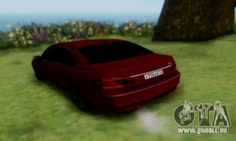 BMW 760i pour GTA San Andreas laissé vue