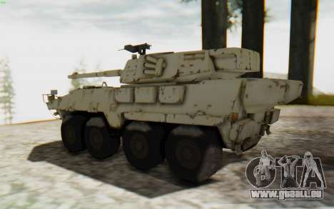 MGSV Phantom Pain STOUT IFV APC Tank v1 für GTA San Andreas linke Ansicht