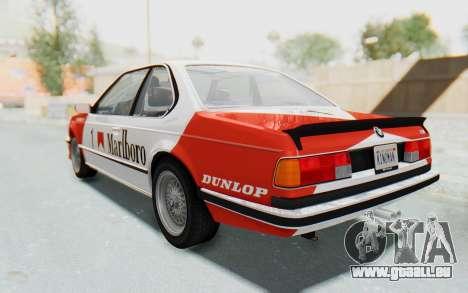 BMW M635 CSi (E24) 1984 IVF PJ1 pour GTA San Andreas roue