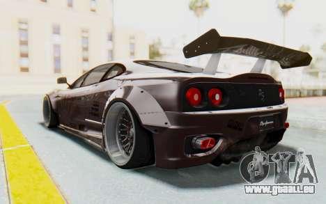 Ferrari 360 Modena Liberty Walk LB Perfomance v1 pour GTA San Andreas vue intérieure