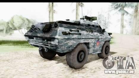 BOV 86M Žandarmerija pour GTA San Andreas sur la vue arrière gauche