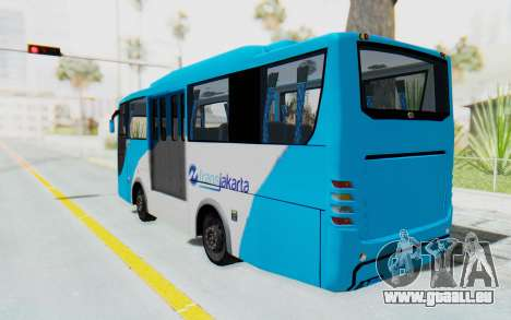 Hino Evo-C Transjakarta Feeder Bus für GTA San Andreas linke Ansicht