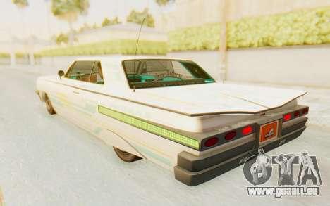 GTA 5 Declasse Voodoo Alternative v1 pour GTA San Andreas salon