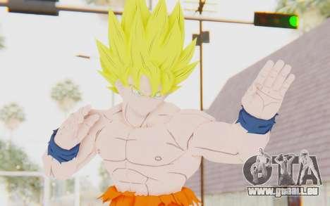 Dragon Ball Xenoverse Goku Shirtless SSJ für GTA San Andreas