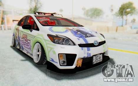 Toyota Prius Hybrid 2011 Hellaflush IF Itasha pour GTA San Andreas