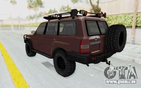 Nissan Patrol Y61 Off Road pour GTA San Andreas laissé vue
