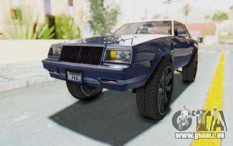 GTA 5 Willard Faction Custom Donk v1 für GTA San Andreas rechten Ansicht
