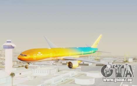 Boeing 777-300ER KLM - Royal Dutch Airlines v1 für GTA San Andreas zurück linke Ansicht