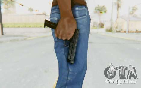 Tariq Iraqi Pistol Back v1 Black Long Ammo für GTA San Andreas dritten Screenshot