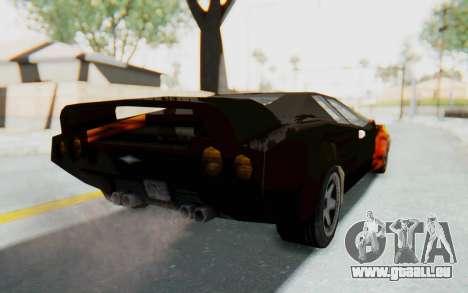 GTA VC Cuban Infernus pour GTA San Andreas sur la vue arrière gauche