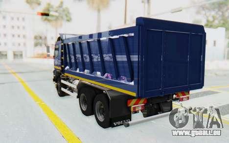 Volvo FMX 6x4 Dumper v1.0 Color pour GTA San Andreas laissé vue